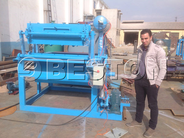 1500pcs egg carton making machine